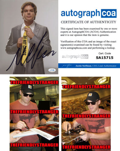 "MICHAEL C HALL signed Autographed ""DEXTER"" 8X10 PHOTO - PROOF - Killer ACOA COA"