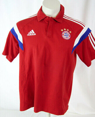 2948d3f19 Red Adidas FC Bayern Munchen Men s shirt Size Large