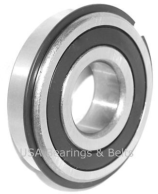 Qty 2 499502h Nr Sealed Bearing With Snap Ring 99502hnr Gokart Bearing Blk