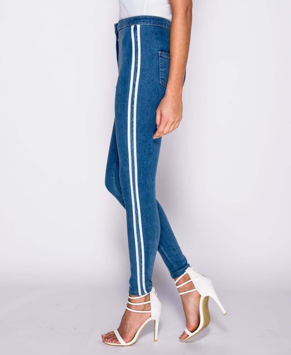 womens stretch skinny denim jeans slim jeggings