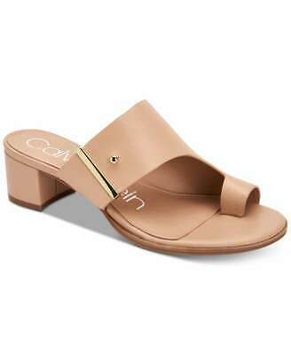Calvin Klein Womens Daria Nappa Leather Split Toe Casual, Desert Sand, Size 7.5