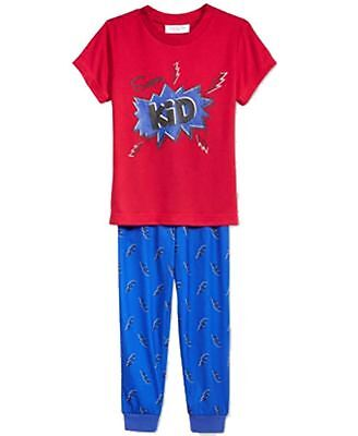 Family  PJs Kids Super Kid Pajama Set Thunder Bolts Red 8