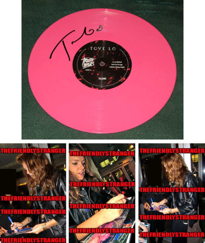 "Rare TOVE LO signed Autographed TRUTH SERUM 10"" PINK VINYL RSD - PROOF - COA"