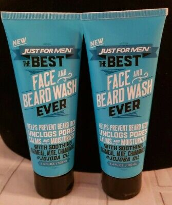 Just For Men, The Best Face and Beard Wash Ever, 3.4 Fluid Ounce (100 (Best Face Wash For Adults)