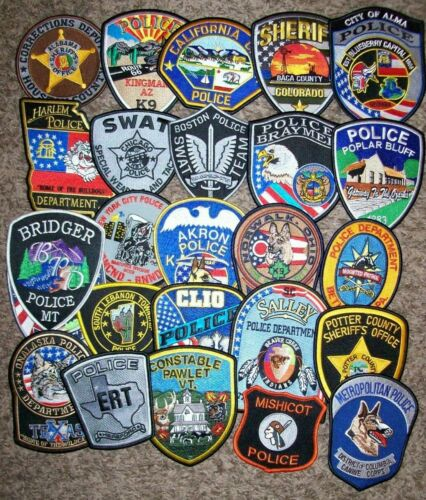 *CLEARANCE* Police - 25 Patch Set  #31 NO DUPLICATES IN SET (fire)