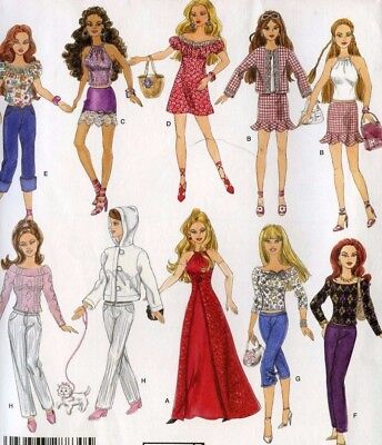 Simplicity Pattern 4702 Fashion Doll 11.5 in 9 Outfits Schewe Designs Uncut