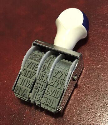 Rubber Rotary Month Day Time Stampstamper - 2002-2007 Paid Recd