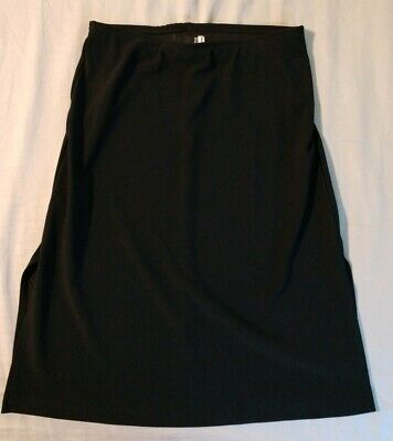 MS. J Black Mini Skirt, Women's size Small, Stretch, Pull on, Polyester Spandex