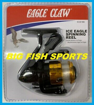 EAGLE CLAW Spinning Ice Reel #ECIE1BB FREE USA SHIP NEW! Crappie, Bass, Panfish