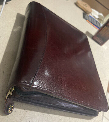 Franklin Covey Signature Leather Zipper Binder Planner Classic 10 X 8 X 2