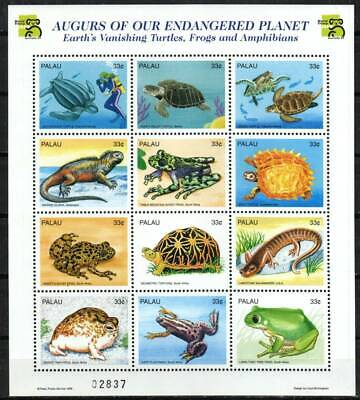 Palau Stamp 495  - Turtles, frogs and lizards