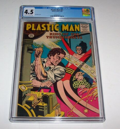 Plastic Man #61 - 1956 Quality Comics Silver Age Issue - CGC VG+ 4.5