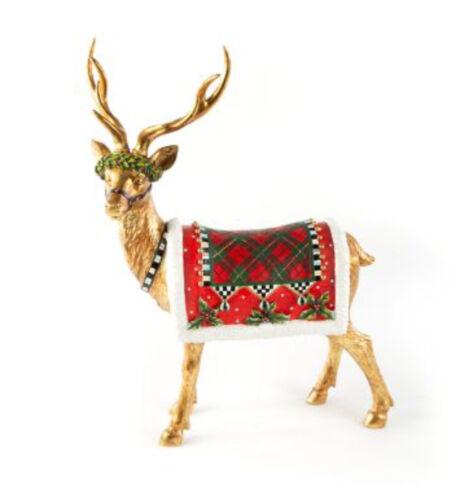 MACKENZIE CHILDS STANDING ABERDEEN REINDEER Deer Christmas GOLD NEW $135