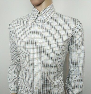 Brooks Brothers Mens Shirt Regular Fit Country Check Sz US M , UK L New RRP£115