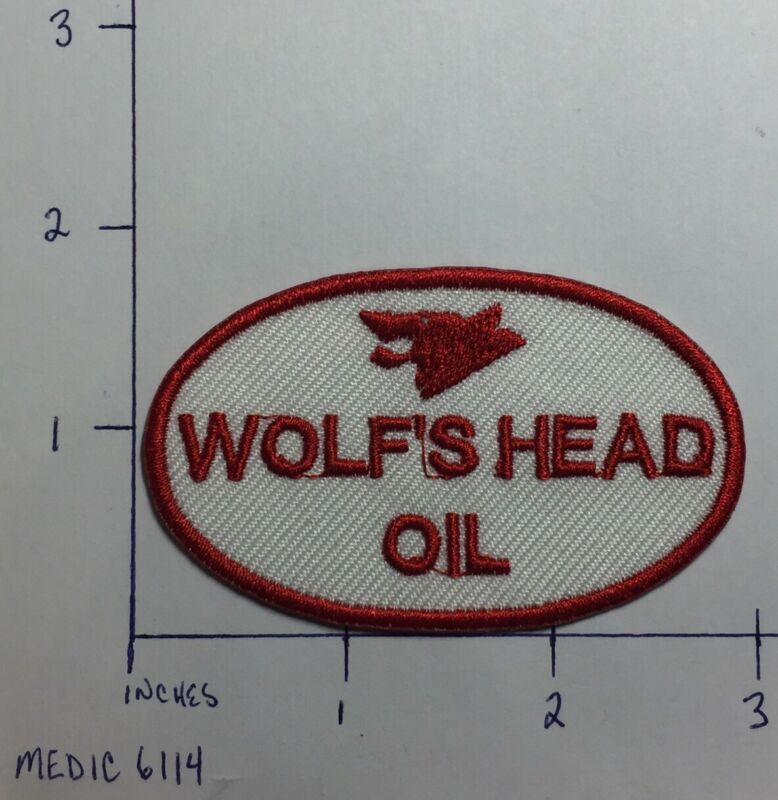 Wolf's Head Oil Logo Embroidered Iron-On Uniform Jacket Patch Gas Pennsylvania