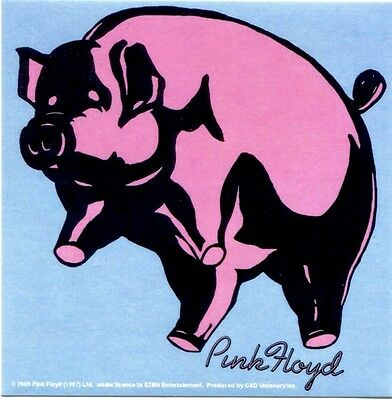 PINK FLOYD pink pig STICKER  **FREE SHIPPING** -window bumper decal -c s7194
