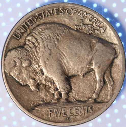 1913 D TYPE 1 BUFFALO NICKEL, TOUGH DATE, MUST HAVE TYPE COIN, FULL DATE, SHARP!