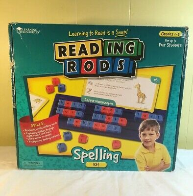 Learning Resources Reading Rods Spelling Classroom Kit - Grades 1-3 Items Sealed - Classroom Items