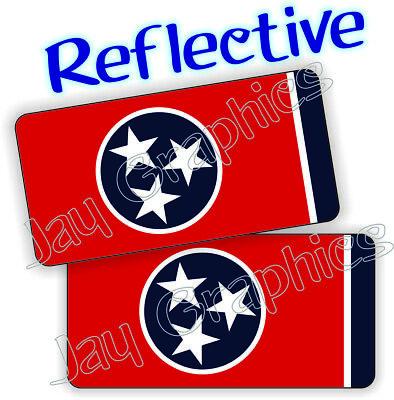 Reflective - Tennessee Flag Hard Hat Stickers Welding Motorcycle Helmet Decals
