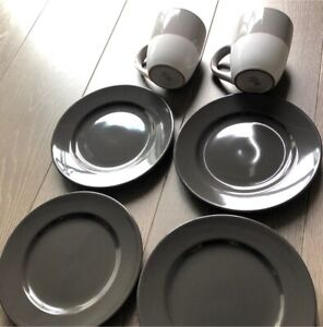 Four new IKEA side plates and 2 large new mugs