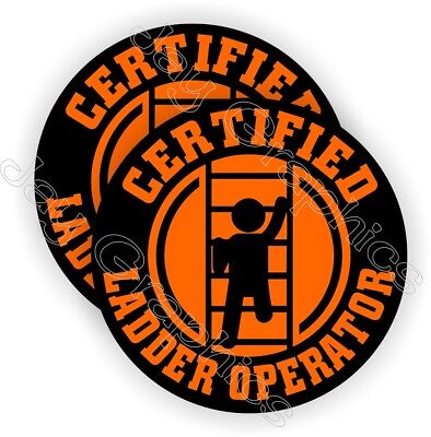 Funny Ladder Operator Hard Hat Stickers Helmet Decals Labels Safety Certified