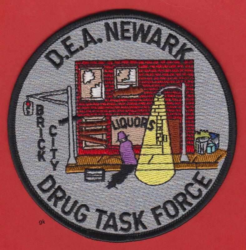 DEA  NEWARK NEW JERSEY DRUG TASK FORCE BRICK CITY SHOULDER PATCH