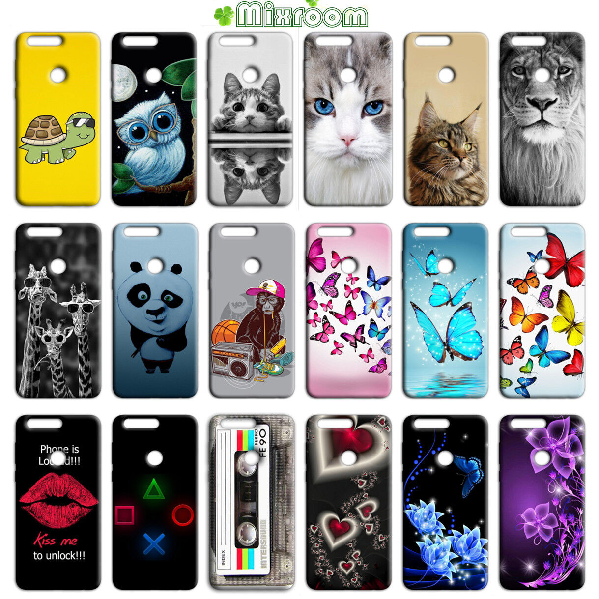 CUSTODIA COVER MORBIDA CASE IN TPU SILICONE PER HUAWEI P8 LITE 2017 FANTASIA L