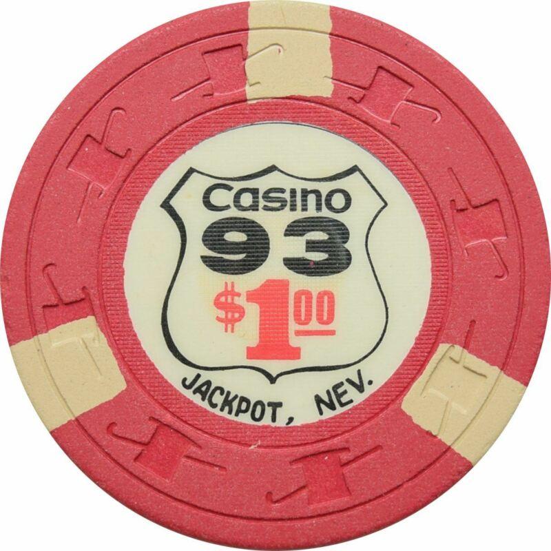 Casino 93 Jackpot NV $1 Chip 1964