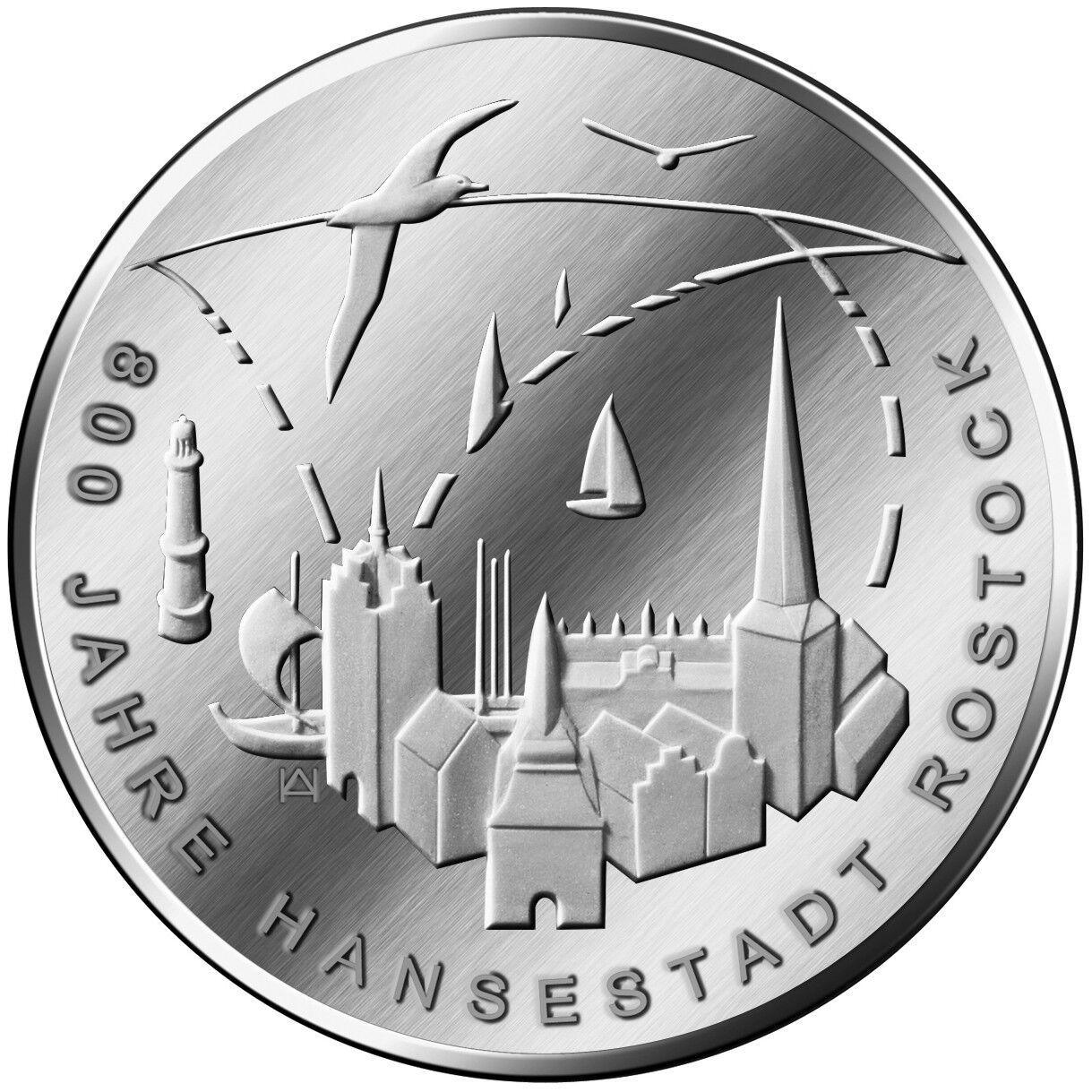 Deutschland - 20 Euro 2018 - 800 Jahre Hansestadt Rostock - Silber ST