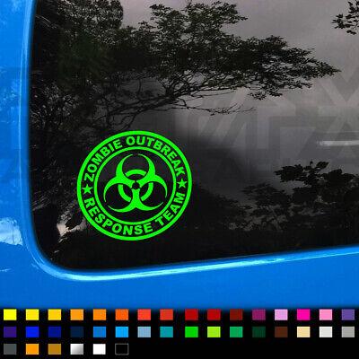 Zombie Outbreak Response Team Badge, Funny Decal Sticker Car Van Window Bumper