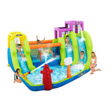RipTide Triple Fun Inflatable PVC Water Park with 3 Slides & Obstacle Course