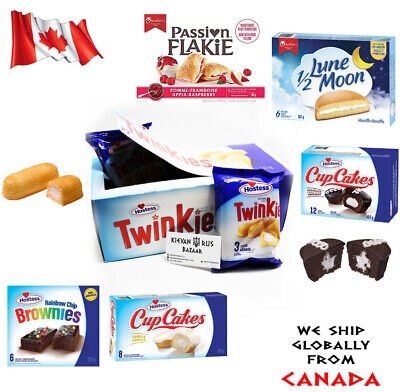 Twinkies Hostess USA Cup Cakes Brownies Lune Moon Marshmallow Passion Flake (Cupcakes Brownies)