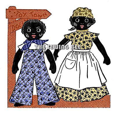 Boy Rag Doll (1879 Vintage Black Americana Boy & Girl Rag Doll Pattern with outfits)