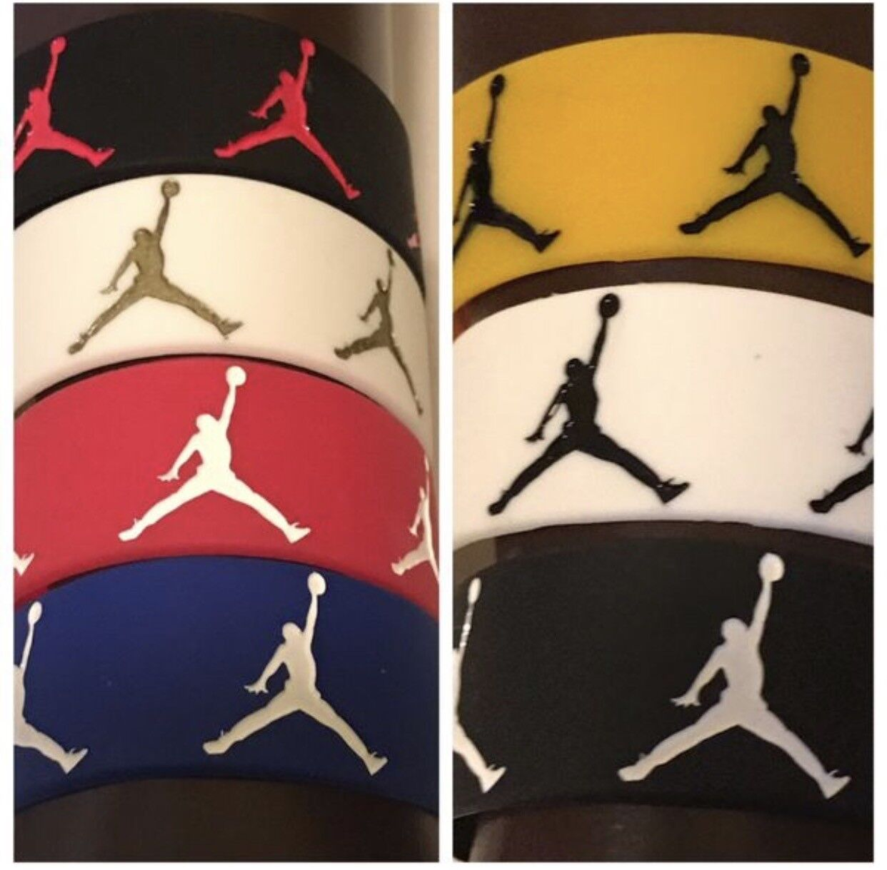 1  Nike Jordan Sport Baller Band Silicone Rubber Wristband B