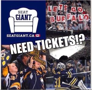 BUFFALO SABRES TICKETS FROM $18 CAD!!