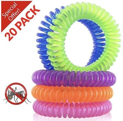 Natures Repel 100% Organic Oils Mosquito/Insect Repellent Bracelets DEET FREE -