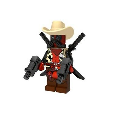 DEADPOOL SHERIFF CUSTOM MINIFIGURE PLAY WITH LEGOS USA SELLER
