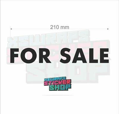 2 x For sale vinyl decal sticker car van window shop