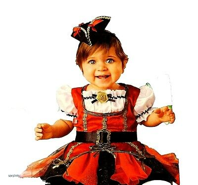 Baby Girls'  Pirate Princess Infant  Halloween Dress up  Roleplay Costume NWT - Pirate Baby Girl Costume