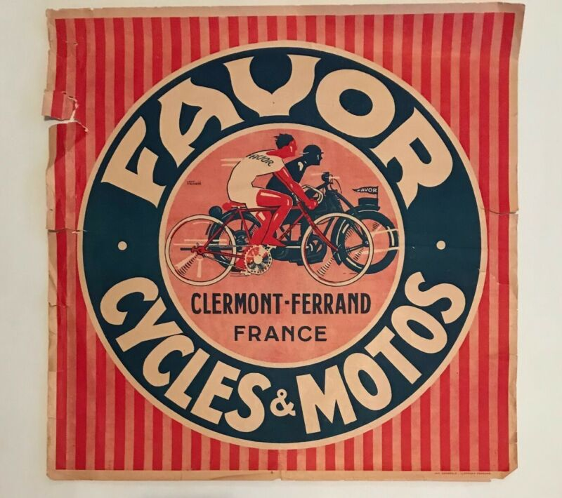 Favor poster motorcycle 1930