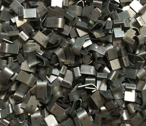 1 Lb.  Zinc Plated J Clips. Cage Clips for Rabbit, Poultry, Game Bird Cages.