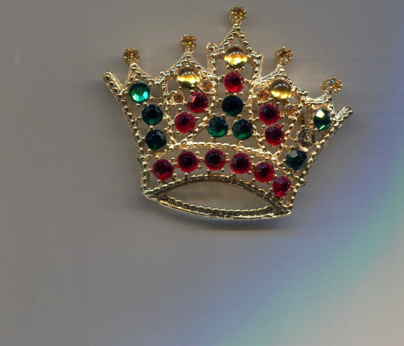 WEISS RED GREEN  CROWN PIN