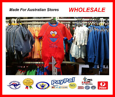 AUS WHOLESALE BABY KIDS CLOTHING Elmo Romper Coverall MYER STOCK *From (Myer Kids Clothing)