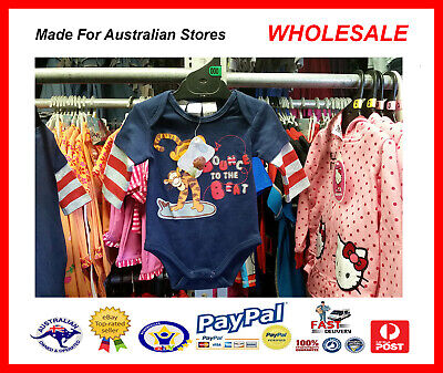 AUS WHOLESALE BABY KIDS CLOTHING Tigger Bodysuit Growsuit MYER STOCK *From (Myer Kids Clothing)
