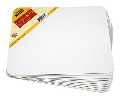 School Smart Dry Erase Boards Unruled 9 X 12 Inches White Pack Of 10