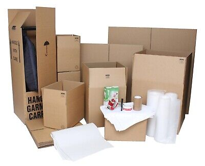 REMOVAL KIT - 52 BOXES INCLUDES DOUBLE WALLED BOXES, TAPE, BUBBLE WRAP & TISSUE