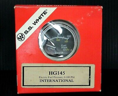 New SS White Electric Fuel Pressure International 0-100 PSI HG145