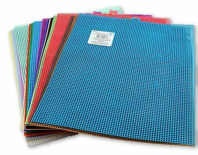 7 Mesh Count Plastic Canvas Sheet 10.5 x 13.5 inch 31 Colors Available [1 Sheet] 7 Mesh Plastic Canvas