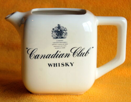 Small Pitcher ~ Canadian Club Whisky / Whiskey ~ Ceramic Advertising