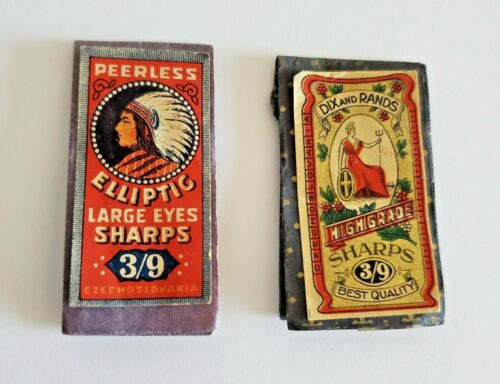Antique Sewing Needle Packs Dix Rands Sharps Peerless Elliptic Czechoslovakia